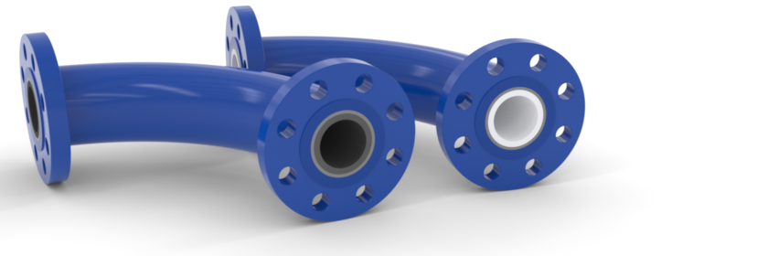 Ceramic-lined pipe, ceramic-lined elbows, bends, and sweeps. Silicon carbide and alumina ceramic lined elbows, sweeps, and all types of fittings.  Our cast silicon carbide linings eliminate internal seams, increasing longevity